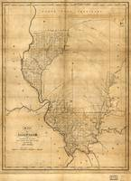 Map of Illinois by John Melish (1818)