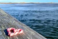 Candy-cane Heart on the Sandwich Boardwalk