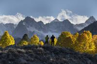 Photographers and Fall Landscape, Sierra Nevadas