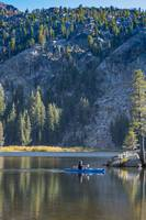 Kayaker and Island, Woods Lake, Sierra Nevadas