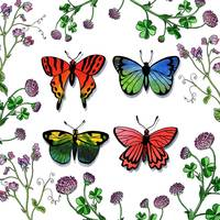 Butterflies And Wildflowers Watercolor Collection