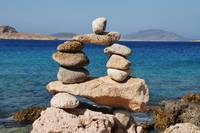 Rock tower on Halki island