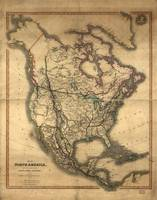 Map of North America by Charles Smith (1849)