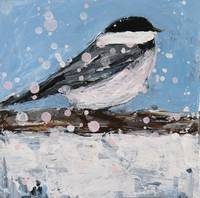 Chickadee in a Snowstorm