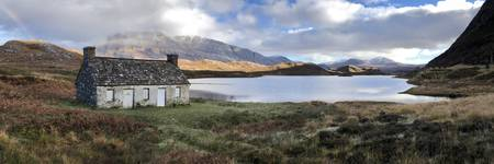 Old Croft House Beside Loch Stack