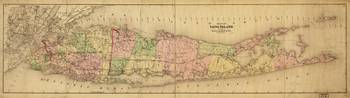 Map of Long Island, New York (1873)