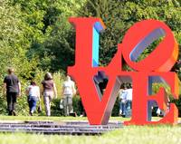 Robert Indiana's Love at Chatsworth