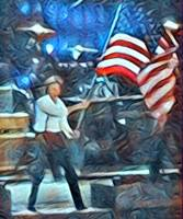 Paul Waving American Flag