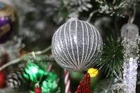 Sparkly Silver Christmas Tree Decoration Ball