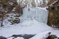 Hayden Run Falls in winter, Columbus, Ohio