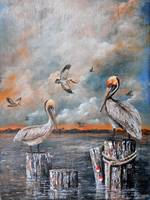 LOUISIANA PELICANS  ARTWORK BY KIP HAYES
