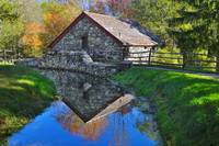 Old Grist Mill Autumn Reflection