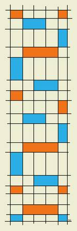 Grid Two Turquoise and Orange