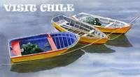 blue dory POSTER, VISIT CHILE