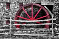 Black and White with Red - Grist Mill