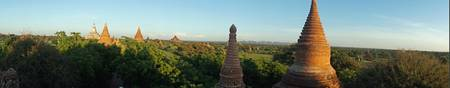 Sunset Pan-1 of Bagan's Temples