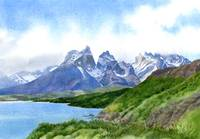 Mountain Peaks at torres Del Paine