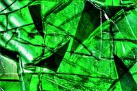 ABSTRACT GREEN BROKEN GLASS