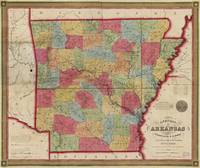 Map of Arkansas (1852)