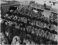 351st Field Artillery troops on the deck of the Lo