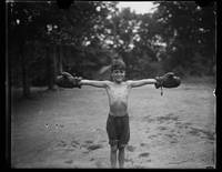 Boy with boxing gloves c 1926 by Harris & Ewing