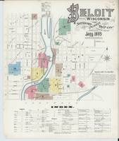 Map from Beloit, Rock County, Wisconsin. 1895