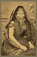 Photo shows an Arab woman c1889 by Tancrede Dumas