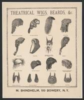 Theatrical wigs, beards, &c. M. Shindhelm, 100 Bow