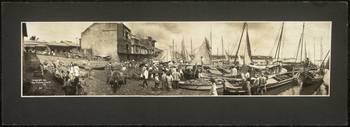 Waterfront scene in Panama City 1909