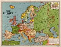 Bacon's standard map of Europe (1925)