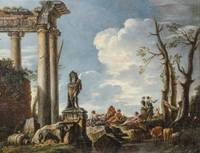 Circle of Giovanni Ghisolfi A CLASSICAL LANDSCAPE