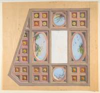 Design for a ceiling decoration  Anonymous, French