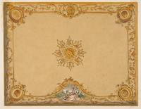 Design for a ceiling with painted decoration Jules