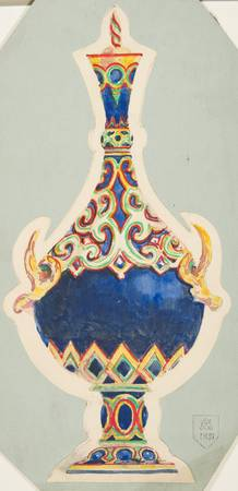 Design for a Vase with Lid  Anonymous, French, 19t