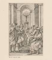 Jewish men in a temple, anonymous, 1550 - 1649