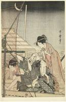 Nightly fishing, Kitagawa Utamaro, 1795 - 1800