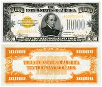 $10,000 Gold Certificate, Series 1934, depicting S