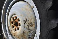 Tractor Wheel - Rustic Colors