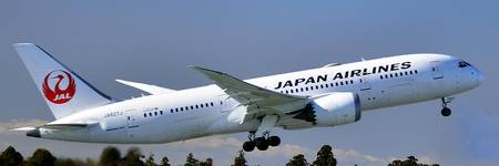 JAL B-787-8, JA827J, With GEnx Engines: TO