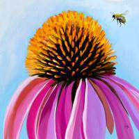 bee-autiful coneflower