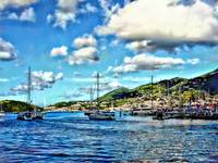 St. Thomas VI - Boats in Harbor