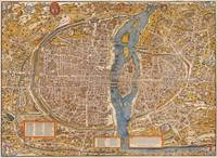 Plan of Paris by Truschet et Hoyau (1553)