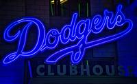 Dodgers Clubhouse in Neon Lights