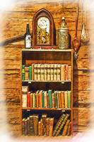 Log Cabin Bookcase Sketched