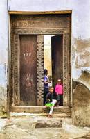 African Kids Playing in Stonetown Zanzibar 3609
