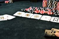 First Person View Of A Winning Hand Royal Flush