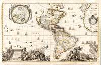 North and South America Map (1711)