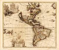 North and South America Map (1709)