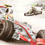 """Lewis Hamilton 2007: ""Karting to Formula One"""" by Kart-Race-Art"