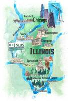 USA_Illinois_Illustrated_Travel_Poster_Favorite_Ma